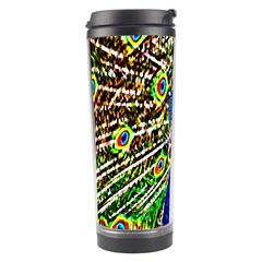 Graphic Painting Of A Peacock Travel Tumbler