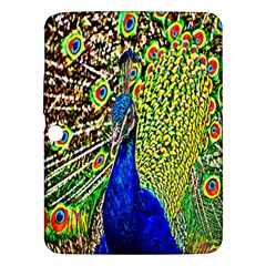 Graphic Painting Of A Peacock Samsung Galaxy Tab 3 (10 1 ) P5200 Hardshell Case