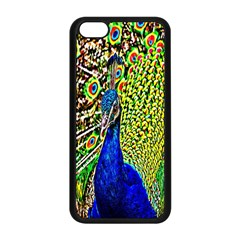 Graphic Painting Of A Peacock Apple iPhone 5C Seamless Case (Black)