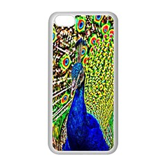 Graphic Painting Of A Peacock Apple iPhone 5C Seamless Case (White)