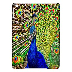 Graphic Painting Of A Peacock iPad Air Hardshell Cases