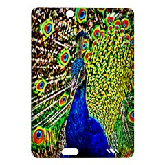 Graphic Painting Of A Peacock Amazon Kindle Fire HD (2013) Hardshell Case