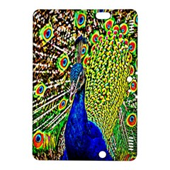 Graphic Painting Of A Peacock Kindle Fire HDX 8.9  Hardshell Case