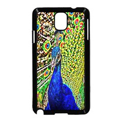 Graphic Painting Of A Peacock Samsung Galaxy Note 3 Neo Hardshell Case (Black)
