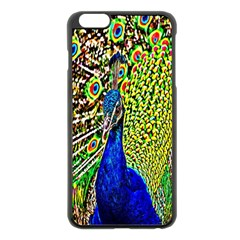 Graphic Painting Of A Peacock Apple iPhone 6 Plus/6S Plus Black Enamel Case