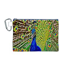 Graphic Painting Of A Peacock Canvas Cosmetic Bag (M)