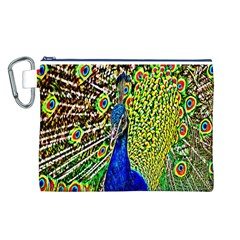 Graphic Painting Of A Peacock Canvas Cosmetic Bag (L)