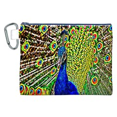 Graphic Painting Of A Peacock Canvas Cosmetic Bag (XXL)
