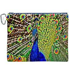 Graphic Painting Of A Peacock Canvas Cosmetic Bag (XXXL)