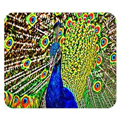 Graphic Painting Of A Peacock Double Sided Flano Blanket (small)