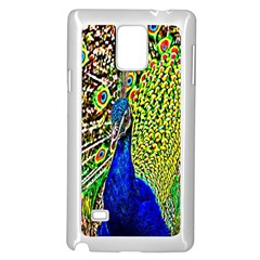 Graphic Painting Of A Peacock Samsung Galaxy Note 4 Case (white)