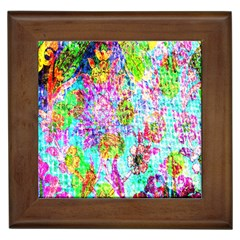 Bright Rainbow Background Framed Tiles