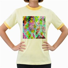 Bright Rainbow Background Women s Fitted Ringer T Shirts