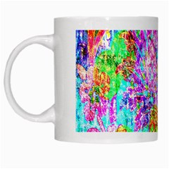 Bright Rainbow Background White Mugs