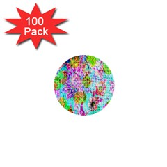 Bright Rainbow Background 1  Mini Buttons (100 Pack)