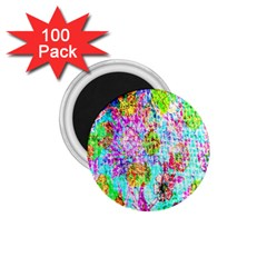 Bright Rainbow Background 1.75  Magnets (100 pack)