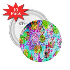 Bright Rainbow Background 2 25  Buttons (10 Pack)