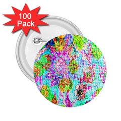 Bright Rainbow Background 2 25  Buttons (100 Pack)