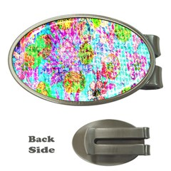 Bright Rainbow Background Money Clips (oval)