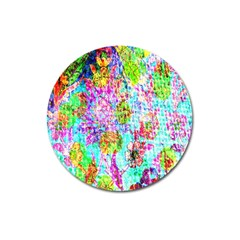 Bright Rainbow Background Magnet 3  (Round)