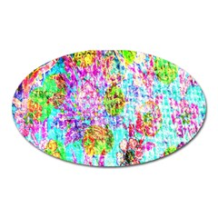 Bright Rainbow Background Oval Magnet