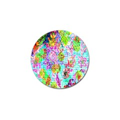 Bright Rainbow Background Golf Ball Marker (4 pack)