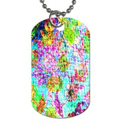 Bright Rainbow Background Dog Tag (Two Sides)