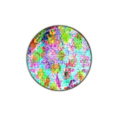 Bright Rainbow Background Hat Clip Ball Marker (4 pack)