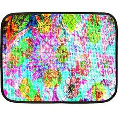 Bright Rainbow Background Double Sided Fleece Blanket (Mini)