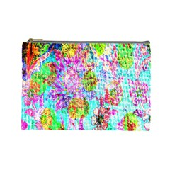 Bright Rainbow Background Cosmetic Bag (large)