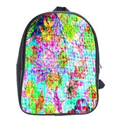 Bright Rainbow Background School Bags(large)