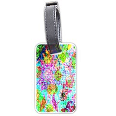 Bright Rainbow Background Luggage Tags (two Sides)