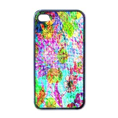 Bright Rainbow Background Apple iPhone 4 Case (Black)