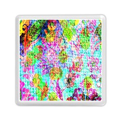 Bright Rainbow Background Memory Card Reader (square)