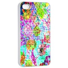 Bright Rainbow Background Apple Iphone 4/4s Seamless Case (white)