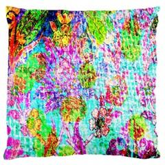 Bright Rainbow Background Large Cushion Case (One Side)