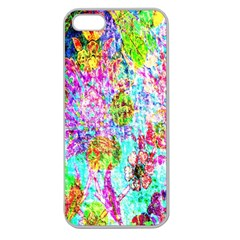 Bright Rainbow Background Apple Seamless Iphone 5 Case (clear)