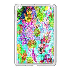 Bright Rainbow Background Apple iPad Mini Case (White)