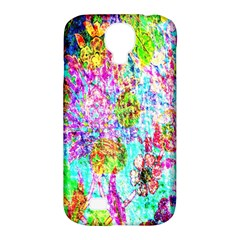 Bright Rainbow Background Samsung Galaxy S4 Classic Hardshell Case (PC+Silicone)
