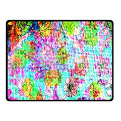 Bright Rainbow Background Double Sided Fleece Blanket (Small)