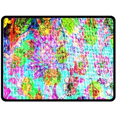 Bright Rainbow Background Double Sided Fleece Blanket (Large)