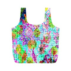 Bright Rainbow Background Full Print Recycle Bags (M)