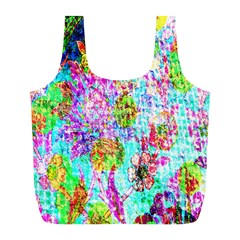 Bright Rainbow Background Full Print Recycle Bags (L)