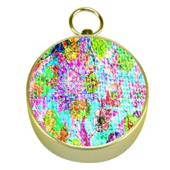 Bright Rainbow Background Gold Compasses