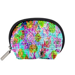 Bright Rainbow Background Accessory Pouches (Small)
