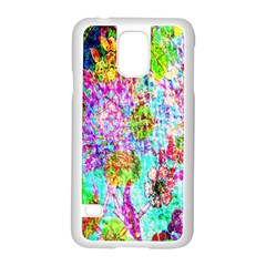 Bright Rainbow Background Samsung Galaxy S5 Case (White)