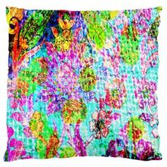 Bright Rainbow Background Large Flano Cushion Case (One Side)