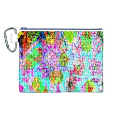 Bright Rainbow Background Canvas Cosmetic Bag (l)