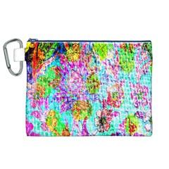 Bright Rainbow Background Canvas Cosmetic Bag (XL)