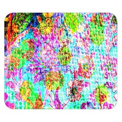 Bright Rainbow Background Double Sided Flano Blanket (Small)